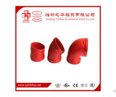 Fm Ul Approval  Grooved Fittings Elbow