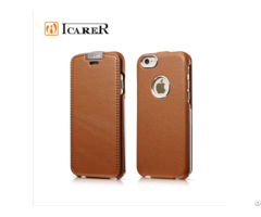 Metal Warrior Litchi Pattern Leather Cases For Iphone 6