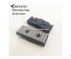 63x25x14mm Scm Edgebander Track Pads