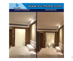 Electronically Controlled Atomized Glass Film Household Bathroom Partition