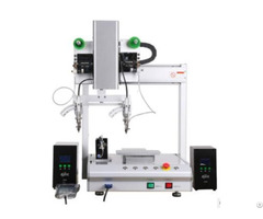 Xhl H441s Desktop 3 Axis Double Head Automatic Soldering Machine