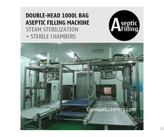 Double Head Sauce Paste Puree 1000l Bag Aseptic Filling Machine