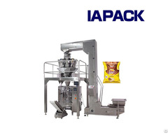 Snacks And Namkeen Packaging Machine With Multi Head Weigher