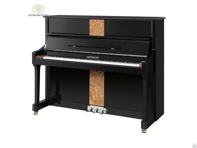 Shanghai Artmann Gd125a2 88 Keys Red Wood Upright Vintage Piano