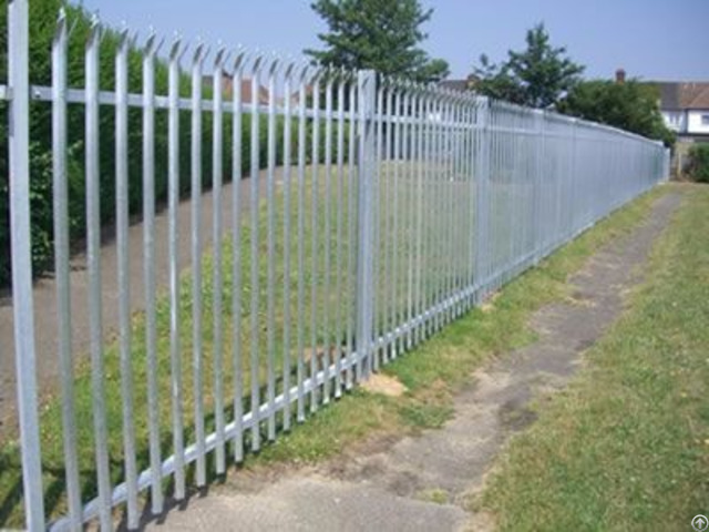 Galvanized Palisade Fence High Corrosion Resistance