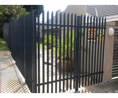 Pvc Palisade Fence With Bright And Beautiful Surface