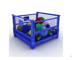 Equipment Storage Cages Heavy Duty Metal Folding Pallet Box