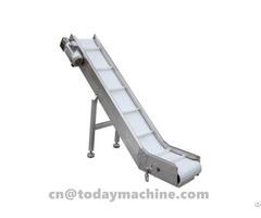 Tilted Belt Conveyor For Cake,biscuits,sugar