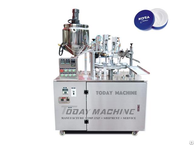 Semi Auto Soft Tube Filling And Sealing Machine For Cream