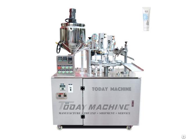 Semi Auto Soft Tube Filling And Sealing Machine