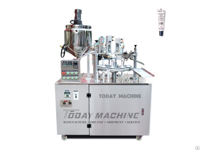 Automatic Lip Gloss Soft Laminated Tube Filling And Sealing Machine