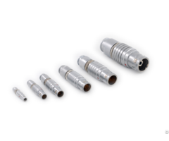 Different Sizes Of Push Pull Self Latching B Series Metal Straight Plugs Connectors