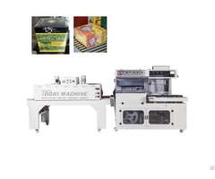 """ Automatic Pe Pof Plastic Film L Type Sealing Heat Shrink Wrapping Packing Machine"""