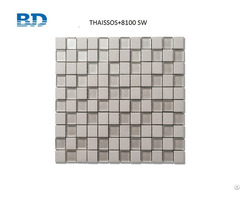 Time Texture Square Stone And Glass Mosaic