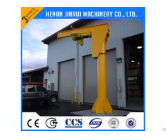 Supply 360 Degree Rotating Luffing 1 50ton Portable Jib Crane