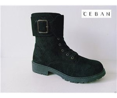Women High Boots With Big Buckle Injection
