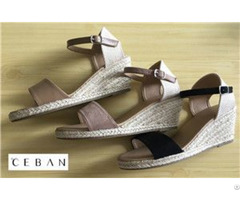 Women Wedge Soled Sandals Jute Outsole