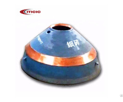 Crusher Parts Manganese Steel Casting Fixed Cone