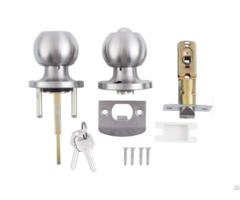 Modern Entrance Door Knobs Handles Featuring In Stainless Steel Finished 587 Tubular Knob Lock