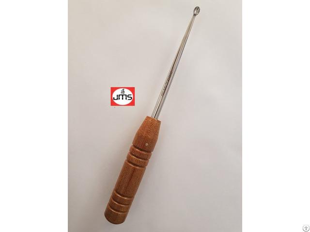 Bruns Bone Currette With Fiber Handle Orthopedic Instrument
