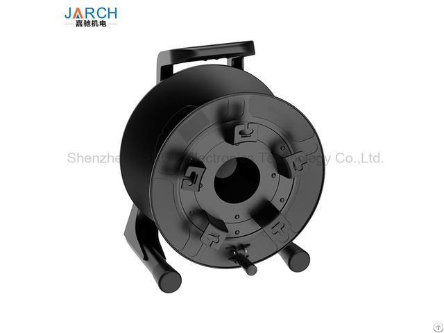 Professional Unbreakable Fiber Optic Hose Reel With Winder 380 Mm Empty Cable Drum