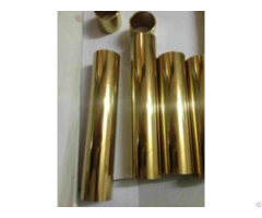 Golden Stainless Steel Pipe