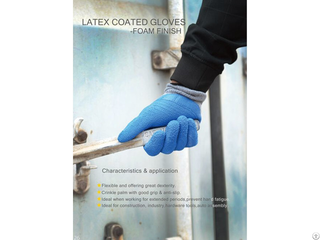 Latex Foaming Breathable Wear Dipping Industrial Protective Gloves