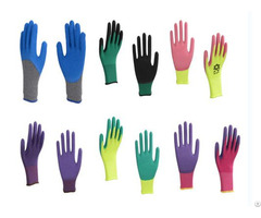 Two Colors Pvc Gloves