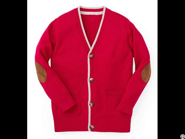 100% Organic Cotton Cardigan Sweaters For Boy
