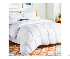 All Season White Down Alternative Quilted Comforter Corner Duvet Tabs Hypoallergenic