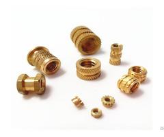 Insertion Knurled Round Nuts Thru Threaded Inserts Brass Insert Nut