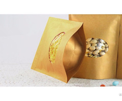 330g Capacity Kraft Paper Standup Bag With A Clear Oval Window