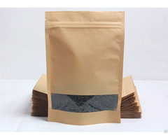 800g Capacity Kraft Paper Standup Bag With A Clear Square Window