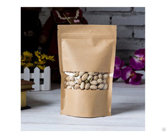 300g Capacity Kraft Paper Standup Bag With A Clear Square Window