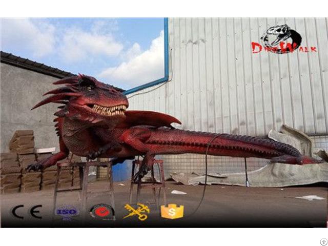 Amusement Park Animated Evil Dragon Animatronic Animals