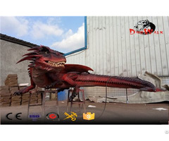 Amusement Park Animated Evil Dragon Animatronic Animals
