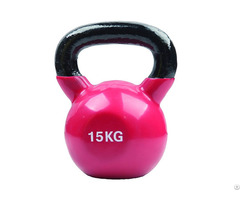 15kg Red Vinyl Coated Kettlebell