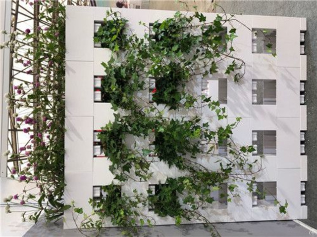 Grass Flower Pot Made For Wall Partition