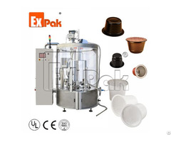 Rotary Type Coffee Capsule Filling And Sealing Machine