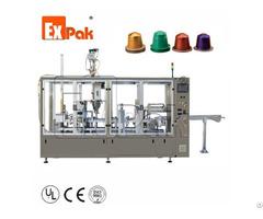Two Lane Type Nespresso Capsule Filling Sealing Machine