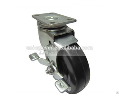 Swivel 3 Inch Plate Type Caster With Brake
