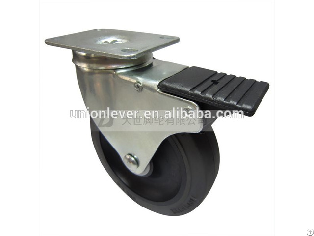 Swivel 5 Inch Plate Type Caster With Brake