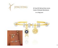 Bracelets Bangles 925 Sterling Silver Jewelry Custom Wholesale Supplier