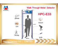Custom 6 33 Zones Portable Security Arch Walk Through Gate Metal Detector For Airport