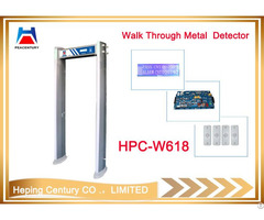 Ip68 Waterproof Hpc W618 Zone Infrared Door Frame Archway Walk Through Metal Detector