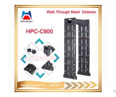 Touch Screen Portable 24 Sensitivity Detect Zones Door Frame Metal Detector