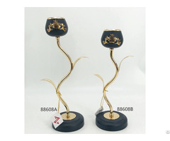 Black Gold Candle Holder
