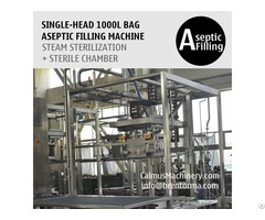 Single Head 1000 Litre Tote Filling Machine 1000l Ibc Liner Bag Aseptic Filler