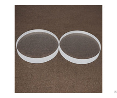 Od 100mm Thickness 3mm Clear Quartz Glass Disc
