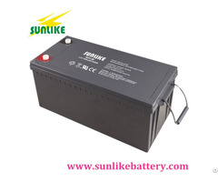 Deep Cycle Solar Rechargeable Gel Battery 12v250 For Power Supply